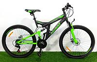 Горный велосипед Azimut Power 26 GD черно-салатовый