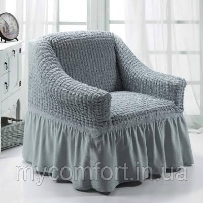 Чехол на кресло (Etek). Серый