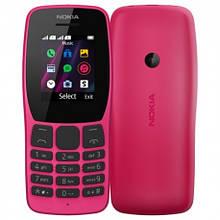 Кнопочный телефон  нокиа оригинал с камерой и мп3 плеером на 2 сим карты Nokia 110 DS TA-1192 Pink