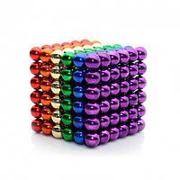 Интерактивная игрушка головоломка магнитный конструктор Неокуб NEO CUB COLOR  для развития мелкой моторики рук 216 шт 5 мм Цветной