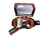 Очки кроссовые VEMAR (оранжево-черные, MJ-1015)