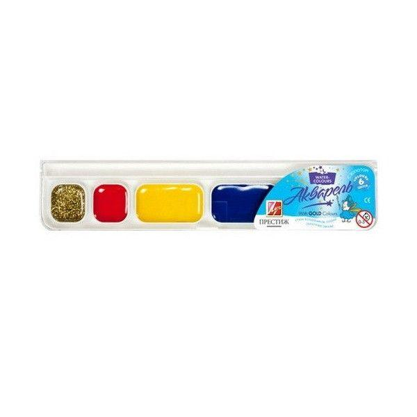 Краски акварель Луч Престиж 118c1230/38019-1101, 6 цветов, б/кист.
