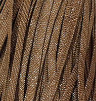 Шнур для одежды плоский 8мм цв горчица/люрекс серебро (уп 100м) арт. 0549