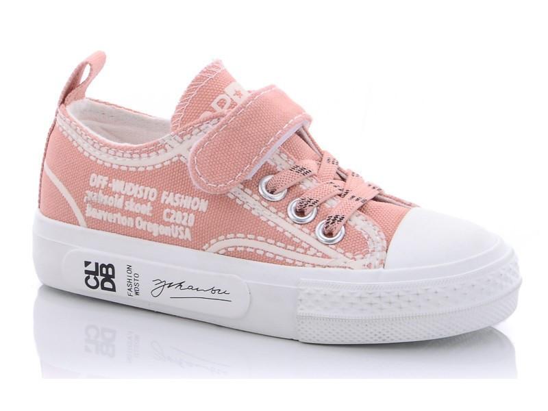 Кеды детские для девочки розовый цвет на липучке размер 25-30 Киев