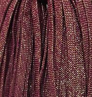 Шнур для одежды плоский 8мм цв слива/люрекс золото (уп 100м) арт. 0543