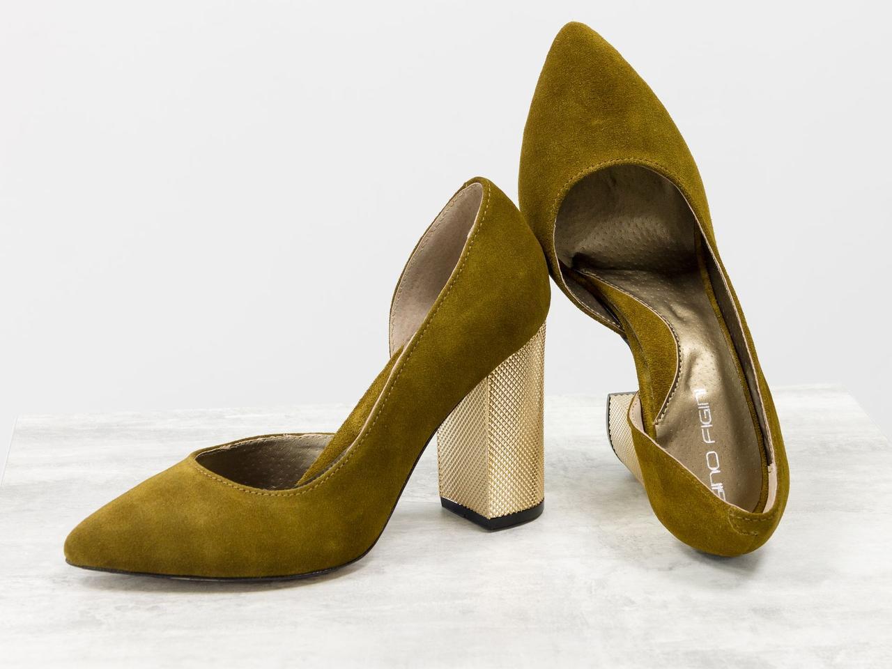 Эксклюзивные туфли из натуральной Итальянской замши горчичного цвета 36 37 38 39 40