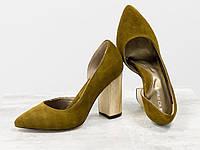 Эксклюзивные туфли из натуральной Итальянской замши горчичного цвета 36 37 38 39 40, фото 1