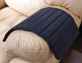 Накладка на подлокотник дивана коврик экокожа Пума, Темно-серый