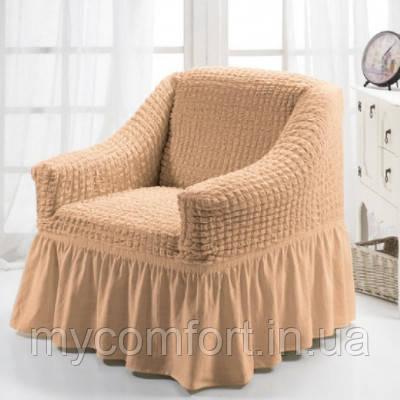 Чехол на кресло (Etek). Бежевый