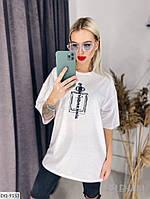Белая модная футболка, фото 1