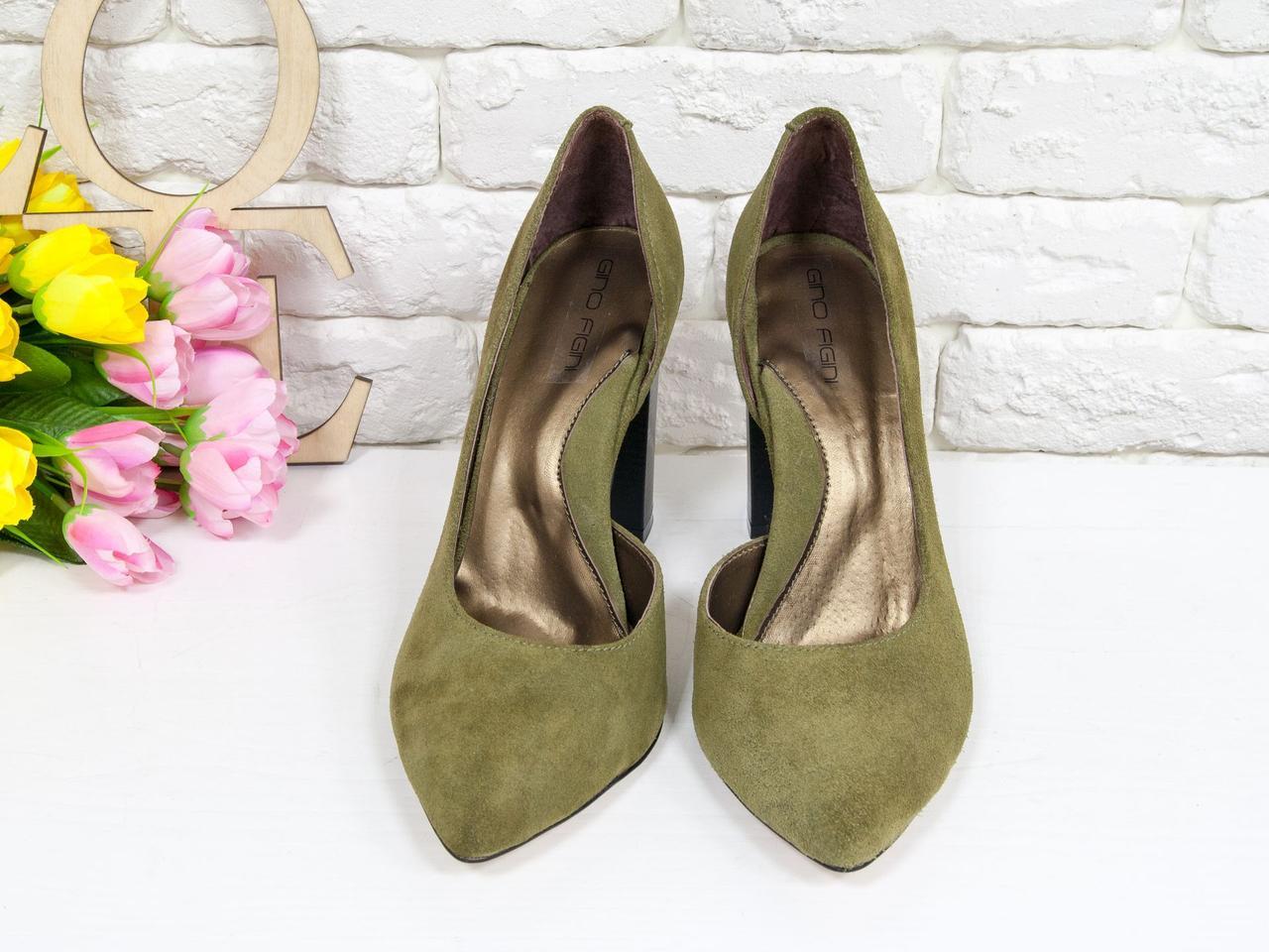 Эксклюзивные туфли из натуральной Итальянской замши оливкового цвета 36 37 38 39 40