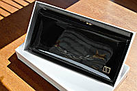 Женский кошелек BRETTON Black лаковый, Натуральная Кожа