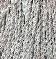 Шнур для одежды круглый 4мм цв белый с серебром (уп 100м)Ф