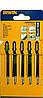 Пильные полотна для лобзика Irwin T119BO Standard Ground Narrow Contour, 83 мм, HCS, по дереву, 5 шт