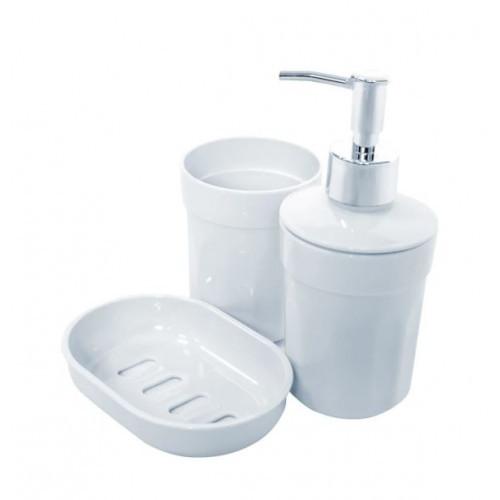 Набор аксессуаров дла ванной 3пр Moon Белый TRL-2031-SW Eco Fabric