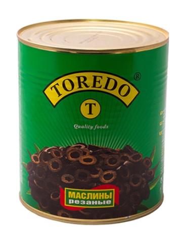 """Маслини чорні без кісточок Різані  """"Toredo"""" 3100 г"""