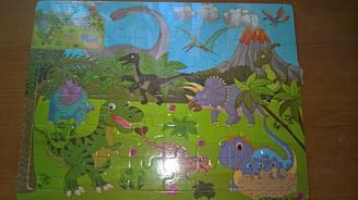 Дерев'яний пазл на 44 ел. Ера динозаврів