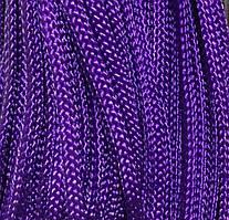 Шнур для одежды плоский 5мм цв фиолетовый (уп 100м) Укр-з