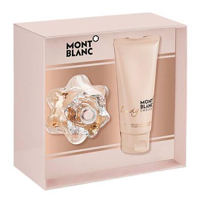 Подарунковий жіночий набір MONTBLANC Lady Emblem парфумована вода 50ml + лосьйон для тіла 100ml, фруктовий аромат