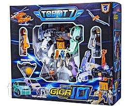 "Трансформер Робот ""Тобот"" GIGA 10 (Гіга 10) - 7 роботів, 2 героя, сяюче світло, муз ефекти Q1905"