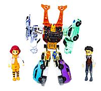 """Трансформер Робот """"Тобот"""" GIGA 10 (Q1905) - 7 роботов, 2 героя, сияющий свет, муз эффекты"""