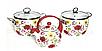 Набор эмалированных кастрюль + чайник  HOFFMAN 912, фото 7