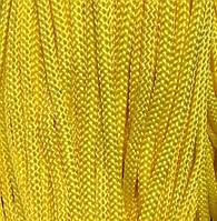 Шнур для одежды плоский 5мм цв желтый (уп 100м) Укр-з