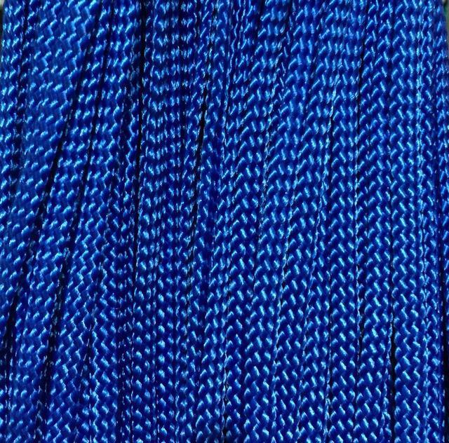 Шнур для одежды плоский 5мм цв синий  (уп 100м) Укр-з