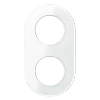Двойная рамка RENOVA белое стекло, Schneider Electric WDE011407