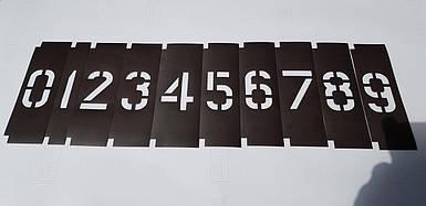 Трафарет с цифрами наборной, многоразовый из магнитного винила (высота от 20 до 120 мм)