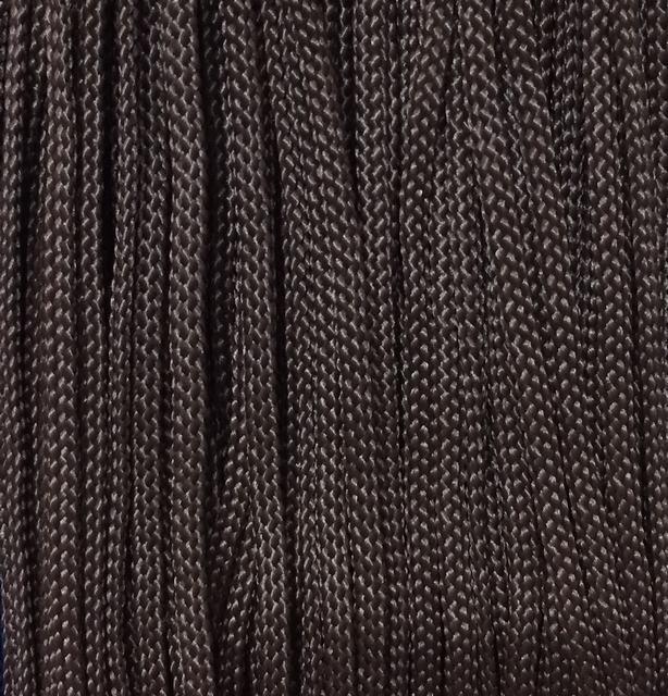 Шнур для одежды плоский 5мм цв коричневый  (уп 100м) Укр-з