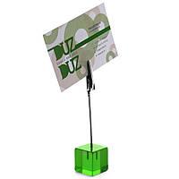 Держатель для бумаг, акрилл, зеленый