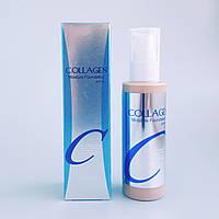 Оригинал Enough Collagen Moisture Foundation тональный крем с коллагеном ТОН 21. 100мл. Корейская косметика