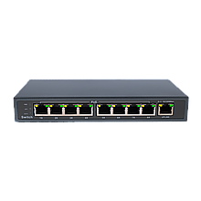Комутатор мережевий POE Green Vision GV-004-Е-08+1P