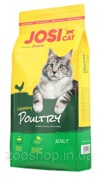 Josera JosiCat Crunchy Poultry со вкусом мяса птицы для взрослых кошек всех пород 10 кг