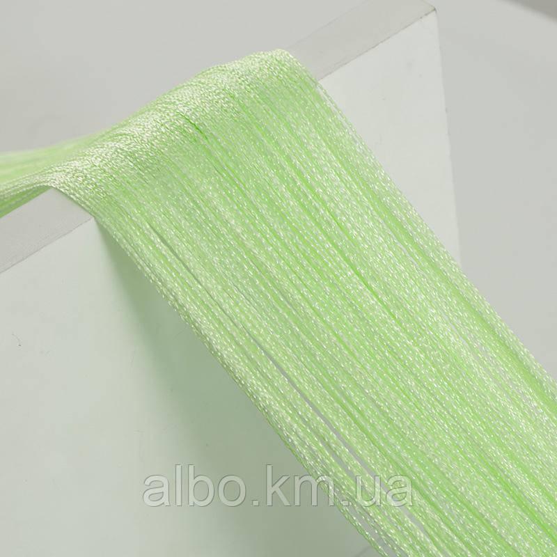Кисея шторы нити без люрекса 300x280 cm Салатовые (Ki-514)