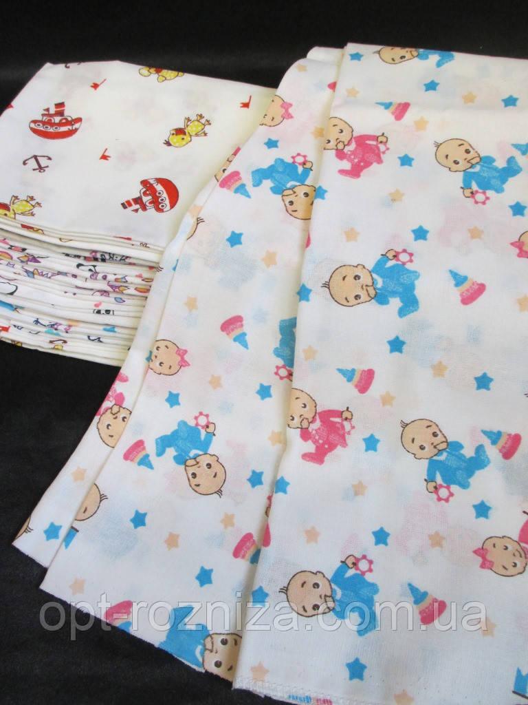 Пеленка 90 х 95 см из ситцевой ткани