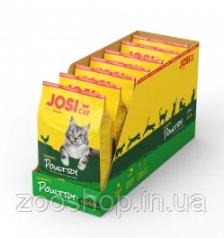 Josera JosiCat Crunchy Poultry со вкусом мяса птицы для взрослых кошек всех пород 4.55 кг, фото 2