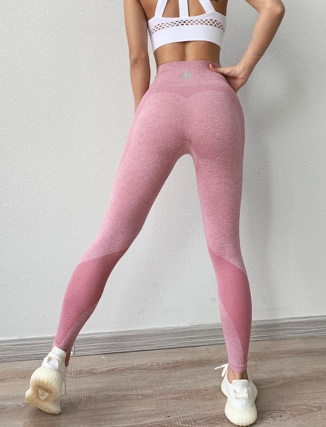 Женские спортивные леггинсы розовые 4242