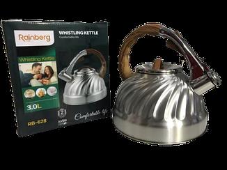 Чайник нержавійка Rainberg 3,0 L