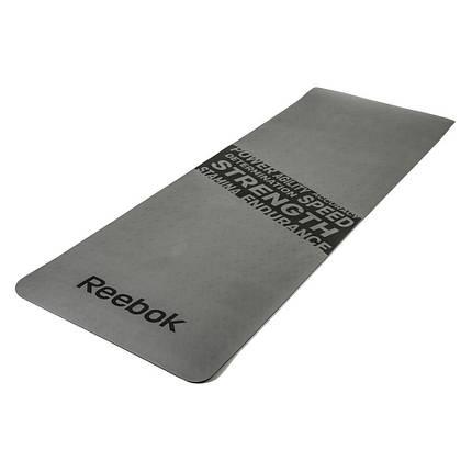 """Мат для фитнеса Reebok """"Strength"""" RAMT-11024GRS серый, фото 2"""