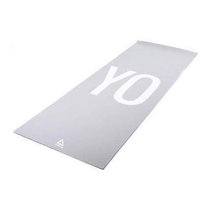 Коврик для йоги Reebok RAYG-11030YG 4 мм серый, фото 2