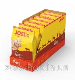 Josera JosiCat Tasty Beef полноценный корм из мяса говядины для взрослых кошек всех пород 4.55 кг