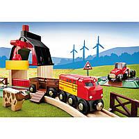Набор деревянной железной дороги Brio Ферма Farm Railway Set