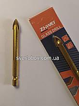 Перо квадро  5 мм . Сверло qwadro 5 мм по плитке керамике стеклу перьевое 5мм
