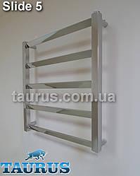 Узкий в современном стиле, полотенцесушитель Slide 5/550х400 мм. Перемычки под углом 30 градусов. Плоский