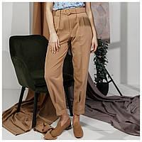 Летние брюки женские модные, бежевые (Украина), фото 1