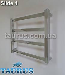 Низький стильний полотенцесушитель Slide 4/450х500 мм. для невеликої ванної кімнати. Україна, Сміла (TAURUS)