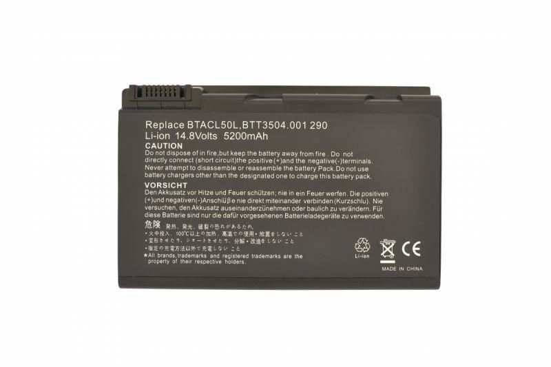 Аккумуляторная батарея для ноутбука Acer BATCL50L Travelmate 291 14.8V Black 5200mAh