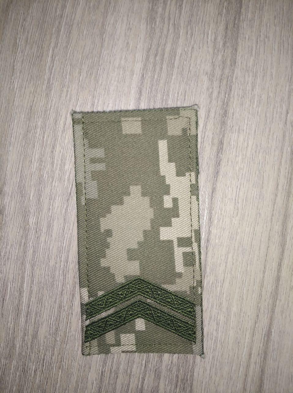 """Погон ЗСУ """"Младший сержант""""(на липучке)"""